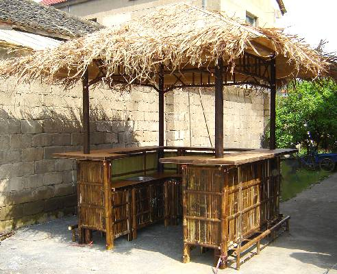 Tahiti Bamboo Bar Hut